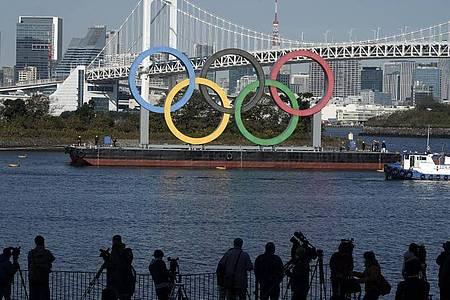 IOC und japanische Organisatoren beschließen die Verschiebung der Olympischen Spiele in Tokio um ein Jahr. Foto: Eugene Hoshiko/AP/dpa