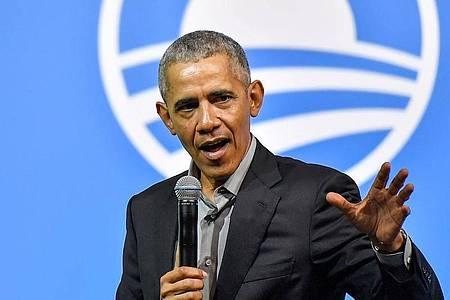 Ein stolzer Vater:Barack Obama. Foto: Shafiq Hashim/BERNAMA/dpa