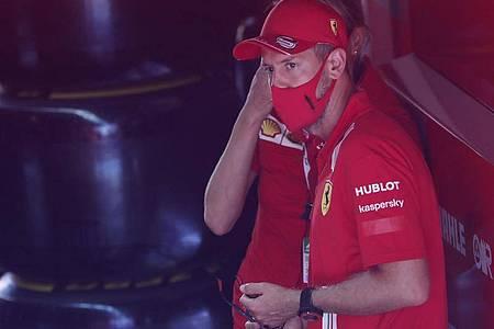 Erwartet von seinem neuen Ferrari-Chassis keine Wunder: Sebastian Vettel. Foto: Emilio Morenatti/AP/dpa
