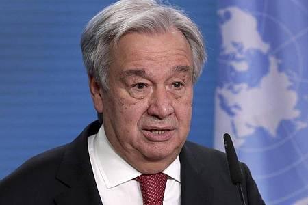Der Portugiese António Guterres will weitere fünf Jahre Generalsekretär der VereintenNationen bleiben. Foto: Michael Sohn/AP POOL/dpa
