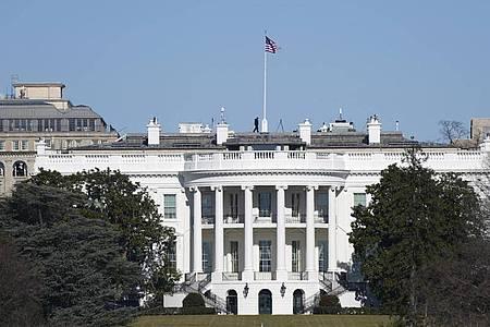 Das Weiße Haus inWashington: Es wurde eine Ausweitung der Sicherheitsmaßnahmen rund um die Vereidigung angekündigt. Foto: Patrick Semansky/AP/dpa