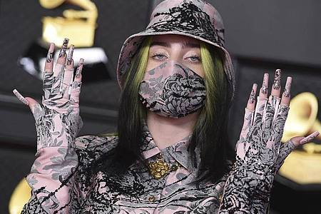Billie Eilish bei den Grammy Awards im Los Angeles Convention Center im März. Foto: Jordan Strauss/Invision/AP/dpa