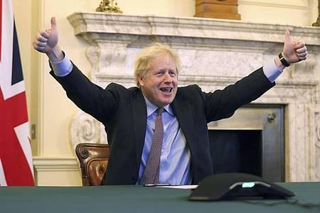 Muss die Kritiker seines Brexit-Deals noch überzeugen: Boris Johnson, Premierminister von Großbritannien. Foto: Pippa Fowles/No 10 Downing Street/XinHua/dpa