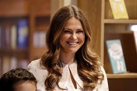 Die schwedische Prinzessin Madeleine lebt in den USA. Foto: Matt Dunham/AP/dpa