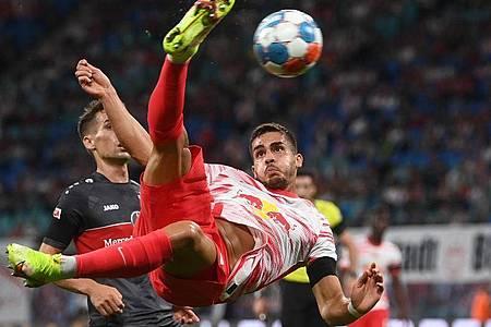 Der RB Leipzig verpflichtete unter anderem Stürmer André Silva. Foto: Hendrik Schmidt/dpa