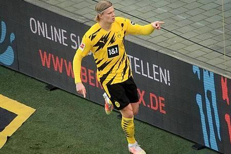 Erling Haaland soll bei vielen Top-Clubs auf dem Wunschzettel stehen. Foto: Wolfgang Rattay/Reuters-Pool/dpa