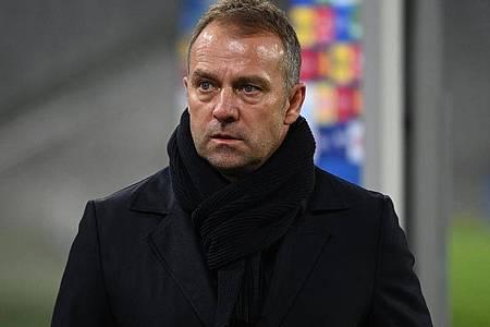 Bayern-Trainer Hansi Flick wünscht sich von seinem Team weniger Fehler. Foto: Sven Hoppe/dpa