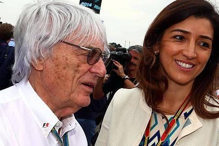 Bernie Ecclestone und seine Ehefrau Fabiana Flosi haben einen Jungen bekommen. Foto: picture alliance / dpa