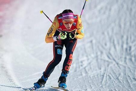Sofie Krehl schied im Viertelfinale aus. Foto: Sebastian Kahnert/dpa-Zentralbild/dpa