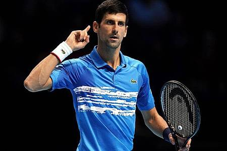 Wird bei den USOpen an den Start gehen:Novak Djokovic . Foto: John Walton/PA Wire/dpa
