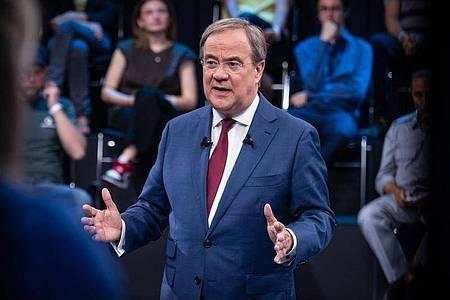 Armin Laschet (CDU) will Kanzler werden. Foto: Claudius Pflug/ZDF/dpa