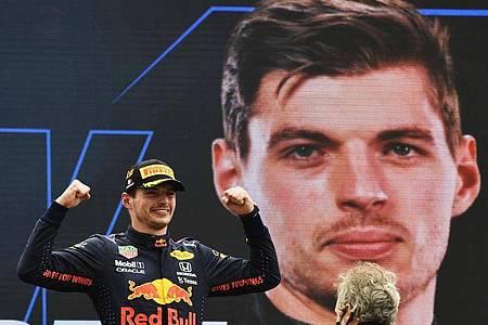 Geht als Favorit in den Großen Preis von Österreich: Max Verstappen vom Team Red Bull Racing. Foto: Nicolas Tucat/Pool AFP/dpa/Archivbild