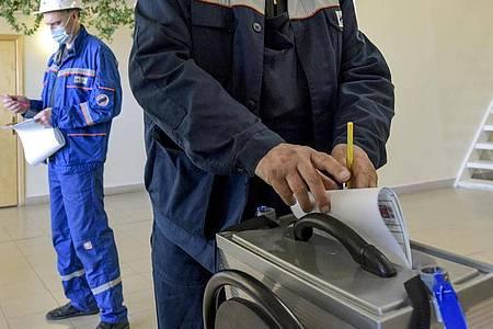 Die Parlamentswahlen finden in Russland am 19. September statt. Foto: Alexander Petrov/AP/dpa