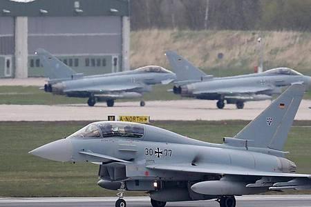Der Eurofighter, der unter anderem von der deutschen Luftwaffe eingesetzt wird, soll von einem neuen System abgelöst werden. Foto: Bernd Wüstneck/dpa-Zentralbild/dpa