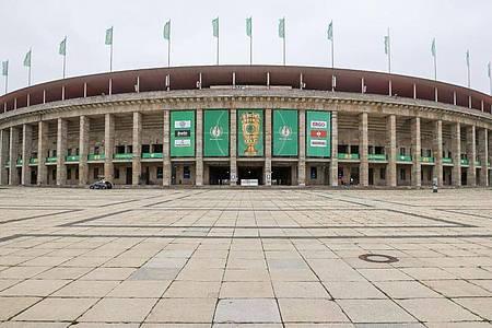 Der klassische Finalort des DFB-Pokalfinales: Das Berliner Olympiastadion. Foto: Jan Woitas/dpa-Zentralbild/dpa
