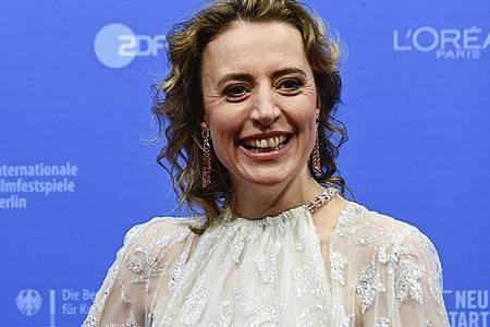 Auf der Berlinale ist Maren Eggert mit dem Silbernen Bären ausgezeichnet worden. Foto: Tobias Schwarz/Pool AFP/AP/dpa