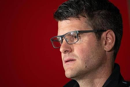 Trainer der FC-Bayern-Frauen: Jens Scheuer. Foto: Marius Becker/dpa