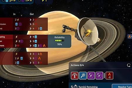 Ein weiter Weg:Um zu fernen Planeten aufbrechen zu können, müssen Weltraum-Fans in «Mars Horizon» erst einiges an Grundlagenforschung erledigen. Foto: Auroch Digital/The Irregular Corporation/dpa-tmn