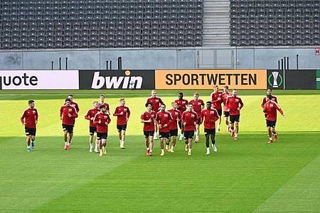 Union Berlin will im Olympiastadion gegen Maccabi Haifa unbedingt punkten. Foto: Matthias Koch/dpa