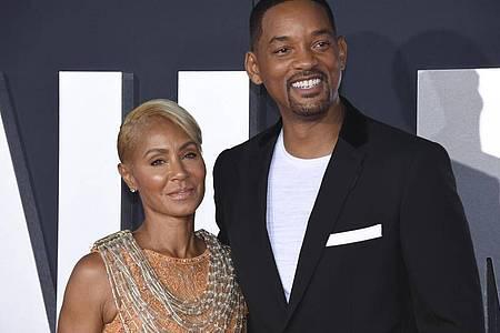 Will Smith und Jada Pinkett Smith bei der Premiere des Films «Gemini Man» 2019 in Los Angeles. Foto: Phil Mccarten/Invision/AP/dpa