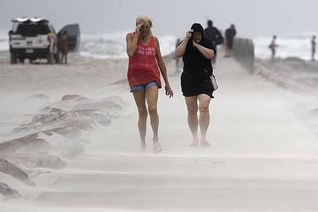 Wind- und Sandsturm am North Packery Channel Jetty in Corpus Christi, Texas. Foto: Annie Rice/Corpus Christi Caller-Times via AP/dpa
