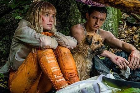 Viola Eade (Daisy Ridley) und Todd Hewitt (Tom Holland) auf der Flucht. Foto: Murray Close/Studiocanal/Lionsgate/dpa