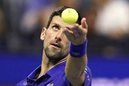 Novak Djokovic hat noch die Chance auf den Grand Slam. Foto: Frank Franklin II/AP/dpa