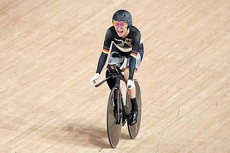 Radsportlerin Denise Schindler gewann bei den Paralympics in Tokio Bronze. Foto: Tim Goode/PA Wire/dpa