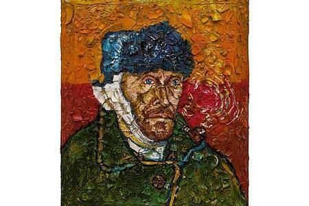 Julian Schnabel, Number 1 (Van Gogh, Self-Portrait with Bandaged Ear, Willem), 2018. Foto: Julian Schnabel/dpa