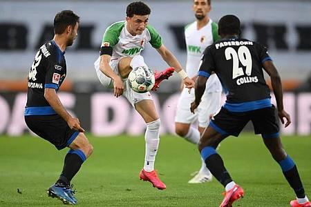 Zumindest einen Punkt konnte Paderborn aus Augsburg mitnehmen. Foto: Matthias Hangst/Getty Images Europe/Pool/dpa