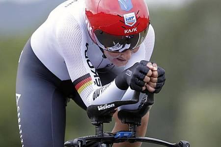Lisa Brennauer verpasste im Zeitfahren eine WM-Medaille. Foto: Andrew Medichini/AP/dpa