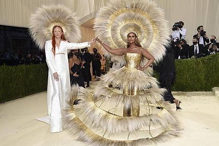 Harris Reed (l) und Iman bei der diesjährigen Met-Gala. Foto: Evan Agostini/Invision via AP/dpa