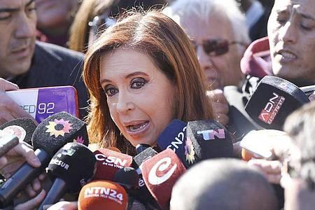 «Ich habe dem Präsidenten immer gesagt, dass mich die angespannte soziale Lage beunruhigt»: Cristina Kirchner. Foto: David Fernandez/EFE/dpa