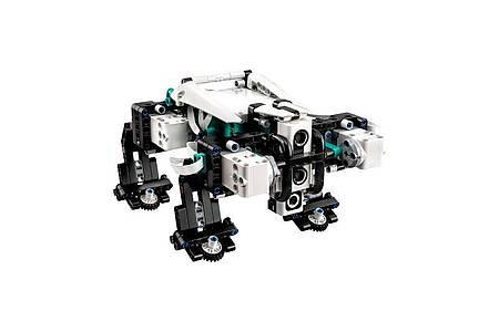 Gelo ist ein recht niedlicher, vor allem aber beweglicher Robo-Hund. Foto: Lego/dpa-tmn