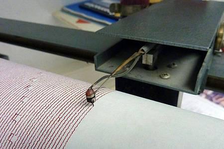 Die Nadel eines Seismografen beim Aufzeichnen von Bodenbewegungen. Foto: picture alliance / dpa