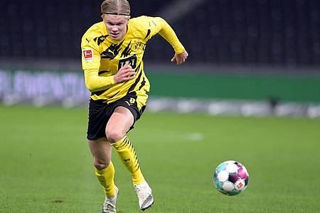 Die Hoffnungen von Borussia Dortmund ruhen auf Erling Haaland. Foto: Soeren Stache/dpa-Zentralbild/dpa/Archiv