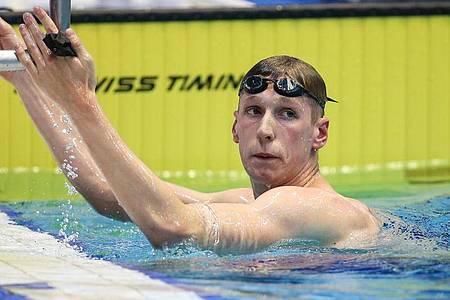 Florian Wellbrock gelang über 400 Meter Freistil die Weltjahresbestzeit. Foto: Andreas Gora/dpa
