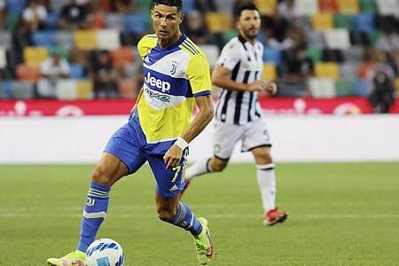 Cristiano Ronaldo steht offenbar vor einem Wechsel von Juventus Turin zu Manchester City. Foto: Andrea Bressanutti/LaPresse/AP/dpa