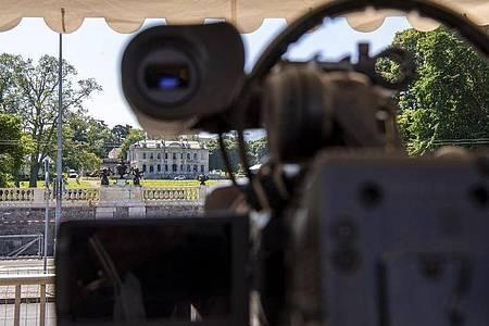 Die «Villa la Grange» in Genf ist Schauplatz des Treffens. Foto: Martial Trezzini/KEYSTONE/dpa
