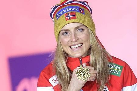Die Norwegerin Therese Johaug errang bei der Nordischen Ski-WM bei all ihren Starts souverän den WM-Titel. Foto: Karl-Josef Hildenbrand/dpa