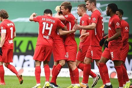 RB Leipzig setzte sich souverän in Bremen durch. Foto: Carmen Jaspersen/dpa