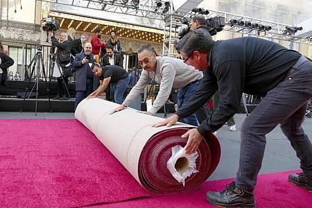 2022 soll der rote Teppich wieder vor dem Dolby Theatre ausgerollt werden. Foto: Barbara Munker/dpa