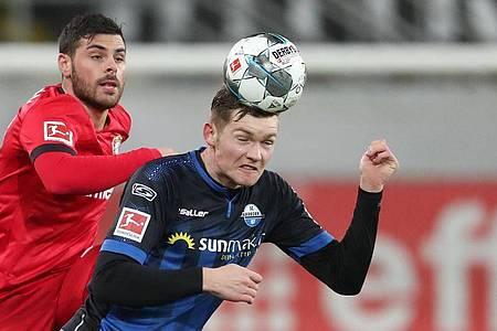 Wurde als erster Bundesligaprofi positiv auf das Coronavirus getestet: Paderborns Luca Kilian. Foto: Friso Gentsch/dpa