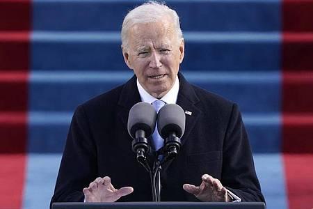 Nach der Vereidigung kündigt der neue US-Präsident Joe Biden die Rückkehr zum Pariser Klimaabkommen an. Foto: Patrick Semansky/AP Pool/dpa