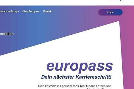 Wer eine Karriere im EU-Ausland anstrebt, kann für Stellensuche und Bewerbungen das Europass-Portal nutzen. Foto: europass.eu/dpa-tmn