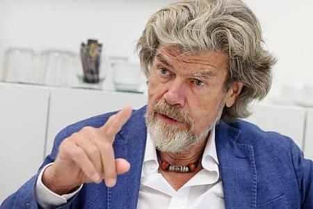 Der Südtiroler Bergsteiger Reinhold Messner. Foto: Roland Weihrauch/dpa