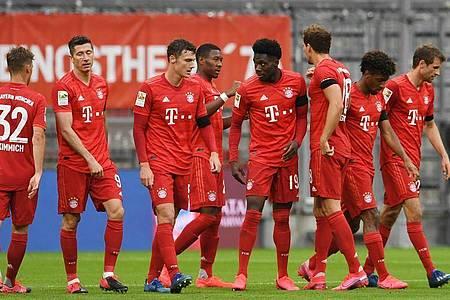 Der FC Bayern München war vor dem Gipfeltreffen mit dem BVB in Torlaune. Foto: Andreas Gebert/Reuters-Pool/dpa