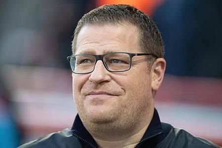 Max Eberl, Sportdirektor von Borussia Mönchengladbach. Foto: Soeren Stache/dpa-Zentralbild/dpa