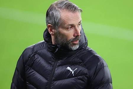 Hat für das Spiel gegen Manchester City «alle wieder an Bord»: Mönchengladbachs Trainer Marco Rose. Foto: Jan Woitas/dpa-Zentralbild/dpa
