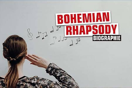 """Tafel mit Noten und Aufschrift """"Bohemian Rhapsody"""""""